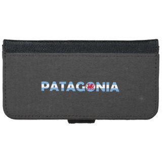 Patagonia flag font wallet phone case for iPhone 6/6s