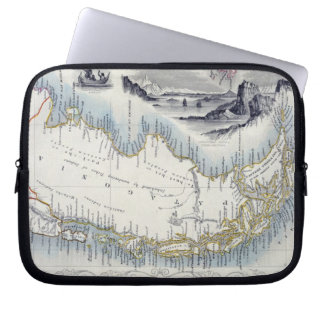 Patagonia, from a Series of World Maps published b Laptop Computer Sleeves