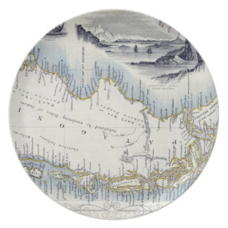 Patagonia, from a Series of World Maps published b Melamine Plate
