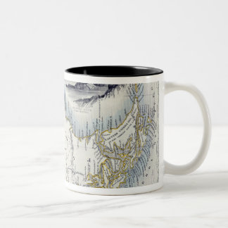 Patagonia, from a Series of World Maps published b Two-Tone Coffee Mug