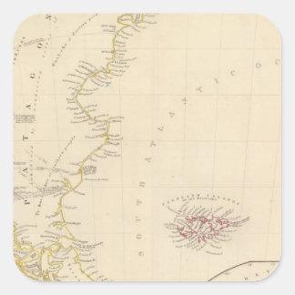 Patagonia, S Shetlands, S Orkneys Square Sticker