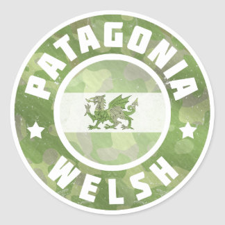 Patagonia Welsh Camo Flag Round Stickers
