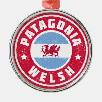 Patagonia Welsh Flag Metal Ornament