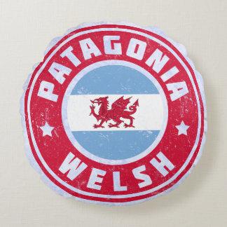 Patagonia Welsh Flag Pillows, Argentina Y Wladfa Round Pillow