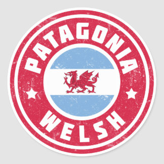 Patagonia Welsh Flag Round Stickers