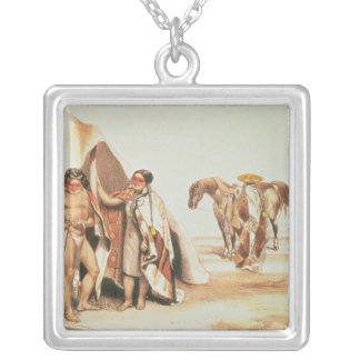 Patagonian Indians Silver Plated Necklace