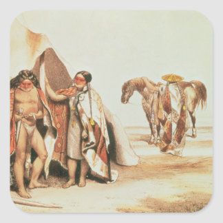 Patagonian Indians Square Sticker