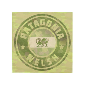 Patagonian Welsh Camo Flag Wood Wall Decor