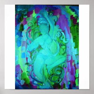 Patanjali Bleu Poster