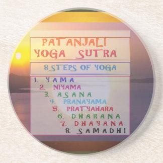 PATANJALI Yoga Meditation Sutra List Coaster