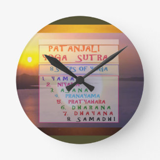 PATANJALI Yoga Meditation Sutra List Round Clock