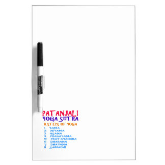 PATANJALI Yoga Sutra Compilation List Dry Erase Board