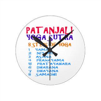 PATANJALI Yoga Sutra Compilation List Round Clock