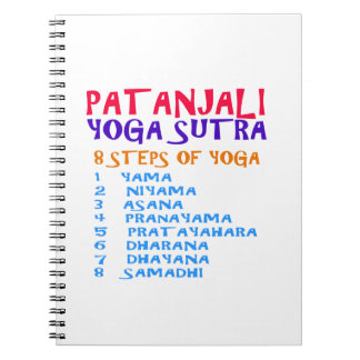 PATANJALI Yoga Sutra Compilation List Spiral Notebook