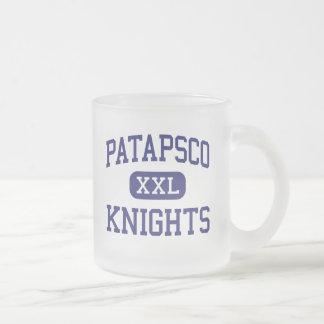 Patapsco Knights Middle Ellicott City Frosted Glass Coffee Mug