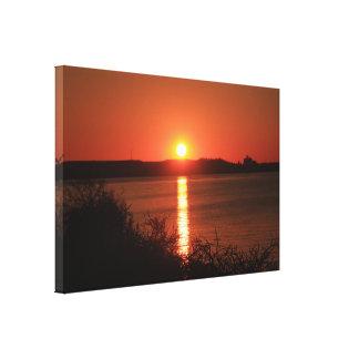 Patapsco River Sunset Stretched Canvas Print