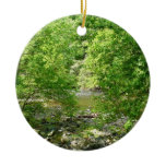 Patapsco River View Maryland Nature Photography Double-Sided Ceramic Round Christmas Ornament