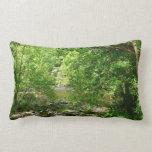 Patapsco River View Maryland Nature Photography Lumbar Pillow