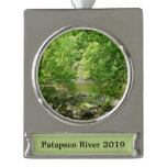 Patapsco River View Maryland Nature Photography Silver Plated Banner Ornament