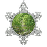 Patapsco River View Maryland Nature Photography Snowflake Pewter Christmas Ornament