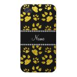 Patas amarillas de neón conocidas personalizadas d iPhone 4/4S carcasa