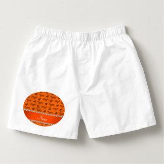 Patas anaranjadas conocidas de encargo de los calzoncillos