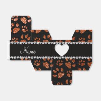 Patas anaranjadas quemadas nombre personalizadas caja para regalos