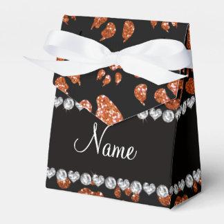 Patas anaranjadas quemadas nombre personalizadas caja para regalos de fiestas