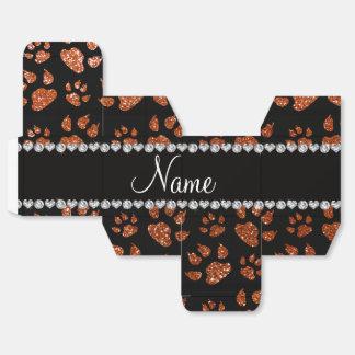 Patas anaranjadas quemadas nombre personalizadas cajas para regalos