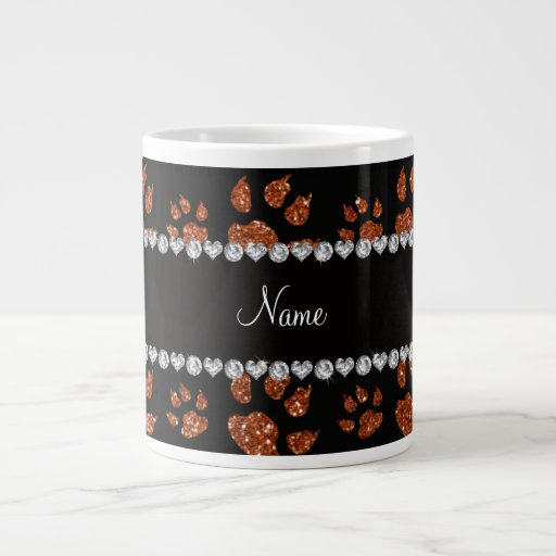 Patas anaranjadas quemadas nombre personalizadas d taza jumbo
