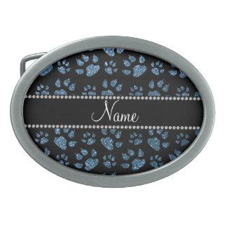 Patas azules brumosas conocidas personalizadas del hebillas de cinturón ovales