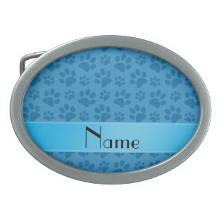 Patas azules brumosas conocidas personalizadas del hebillas cinturon ovales