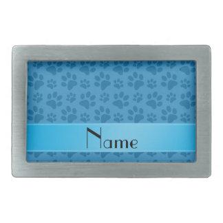 Patas azules brumosas conocidas personalizadas del hebilla cinturón rectangular