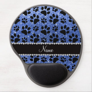 Patas azules conocidas de encargo del perro negro alfombrilla para ratón de gel