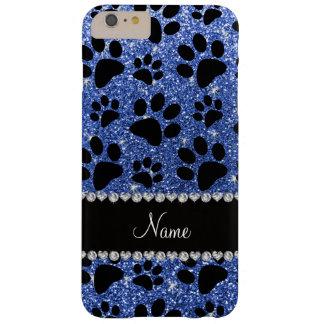 Patas azules conocidas de encargo del perro negro funda barely there iPhone 6 plus