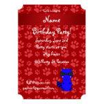 Patas azules conocidas de encargo del rojo del invitación 12,7 x 17,8 cm