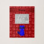 Patas azules conocidas de encargo del rojo del map puzzle