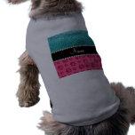 Patas azules conocidas personalizadas del rosa del ropa para mascota