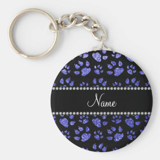 Patas azules de neón conocidas personalizadas del llavero redondo tipo pin