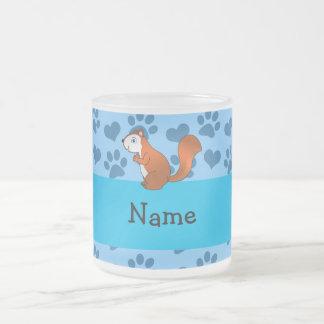 Patas azules en colores pastel personalizadas de l tazas