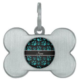 Patas brillantes conocidas personalizadas del gato placas de mascota