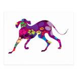 Patas coloreadas del perro postal