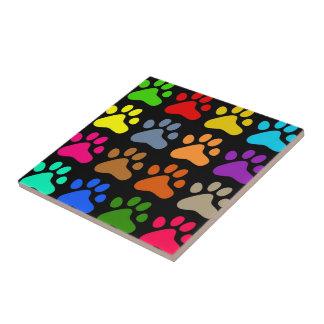 Patas coloridas azulejo cuadrado pequeño