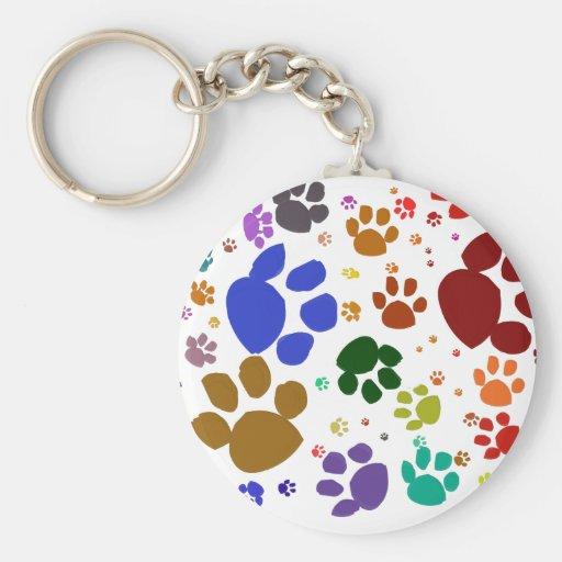 patas coloridas del gato llavero