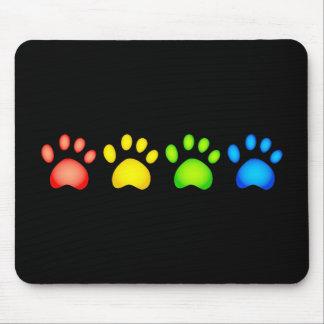 Patas coloridas tapete de ratón
