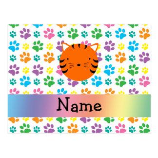 Patas conocidas personalizadas del arco iris de la postal