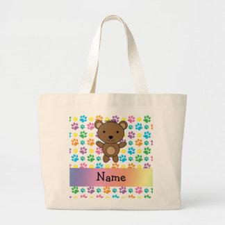 Patas conocidas personalizadas del arco iris del bolsas lienzo