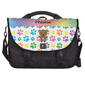 Patas conocidas personalizadas del arco iris del bolsas de portatil