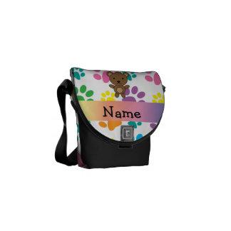 Patas conocidas personalizadas del arco iris del bolsas messenger