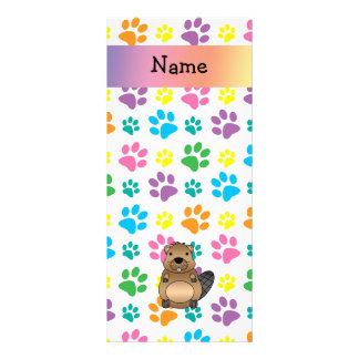 Patas conocidas personalizadas del arco iris del c tarjeta publicitaria personalizada